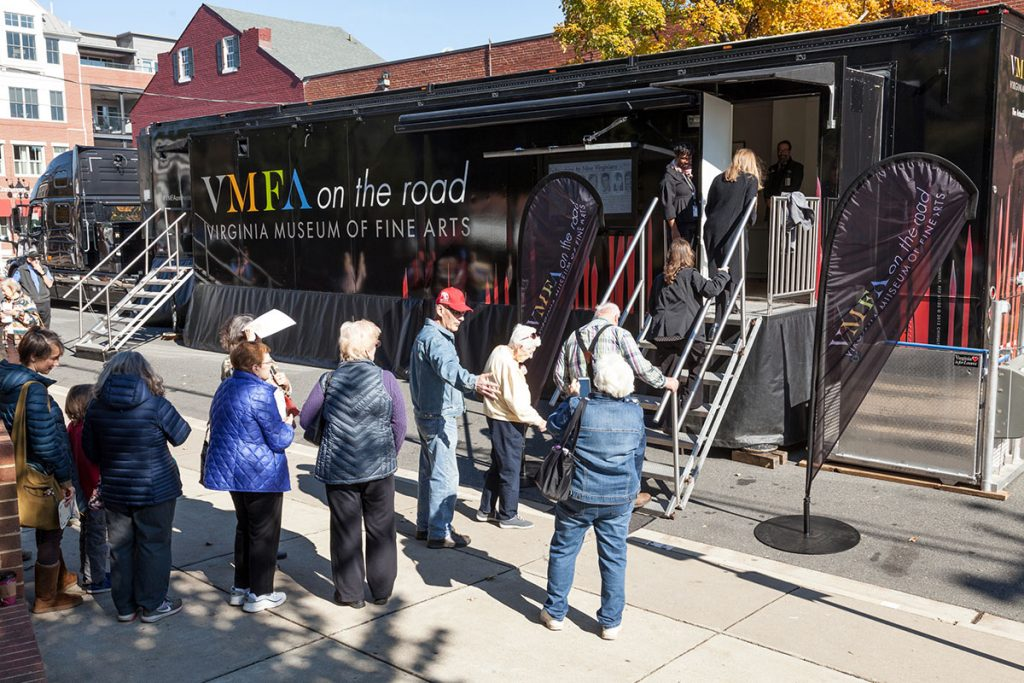 The VMFA Art Mobile will be exhibiting past recipients of the VMFA Fellowship. One of the many interactions taking place in The CURRENT Midway!