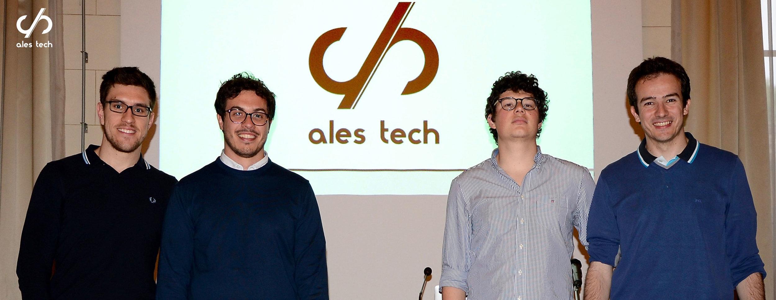Ales Tech's founders: from the left, Luca Cesaretti, lorenzo andrea parrotta, antonio davola e andrea paraboschi