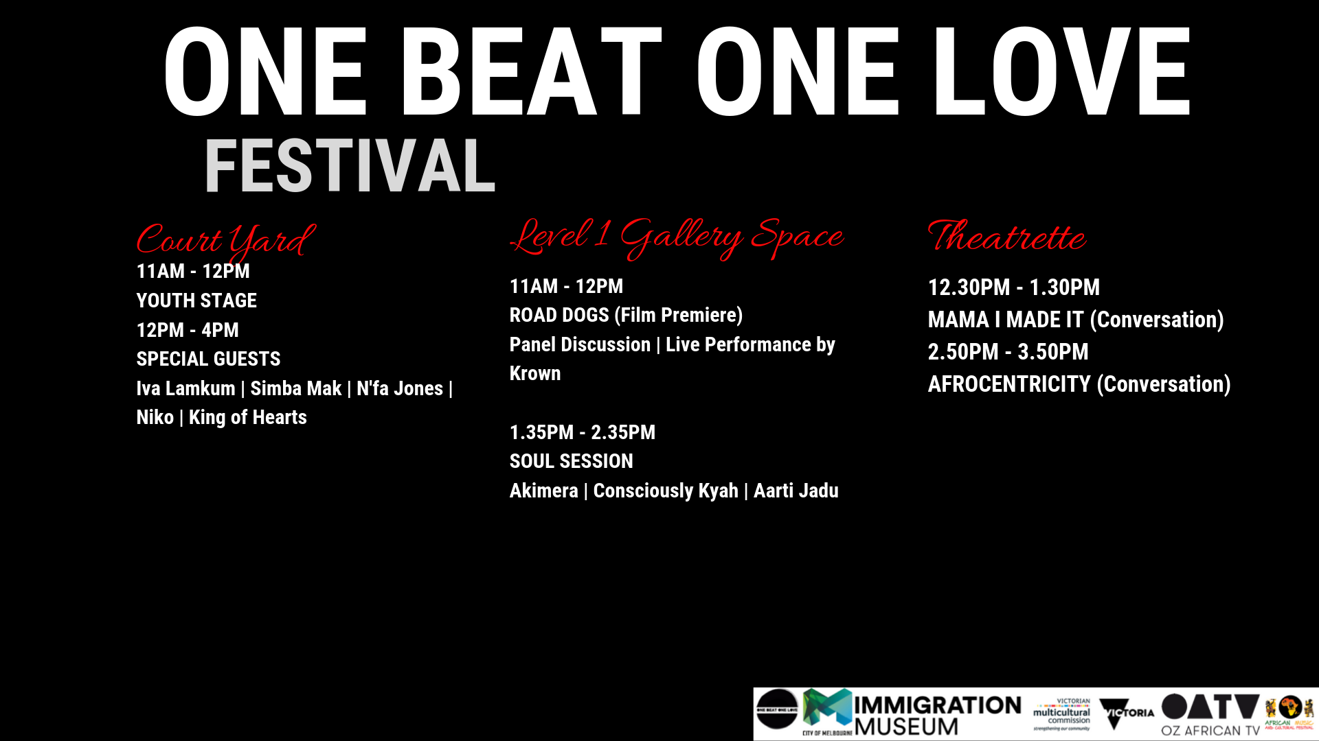 One Beat One Love Program