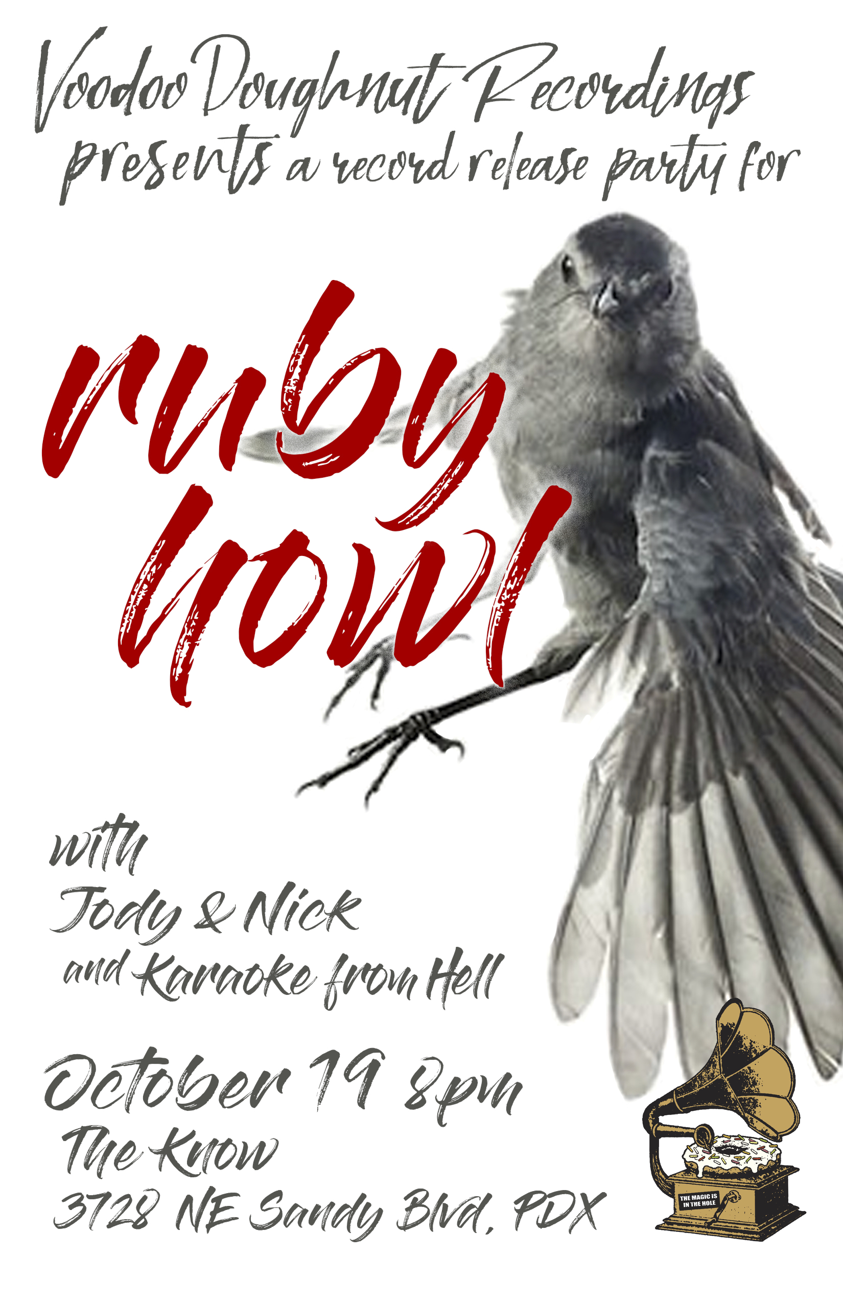 "record release in portland for  RUBY HOWL'S  ""swallows take flight""!"