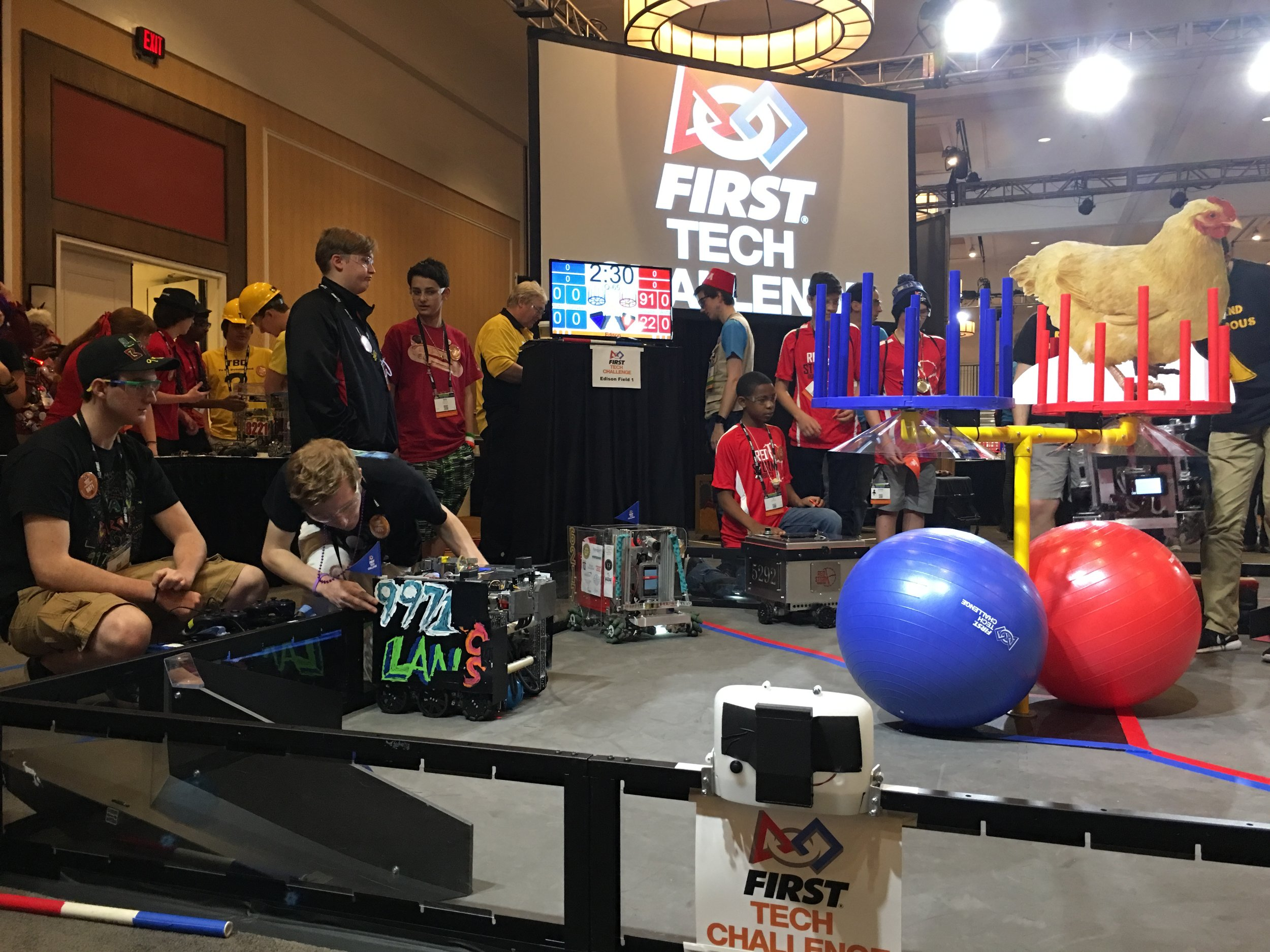 Anomaly preparing for Autonomous at the World Championship