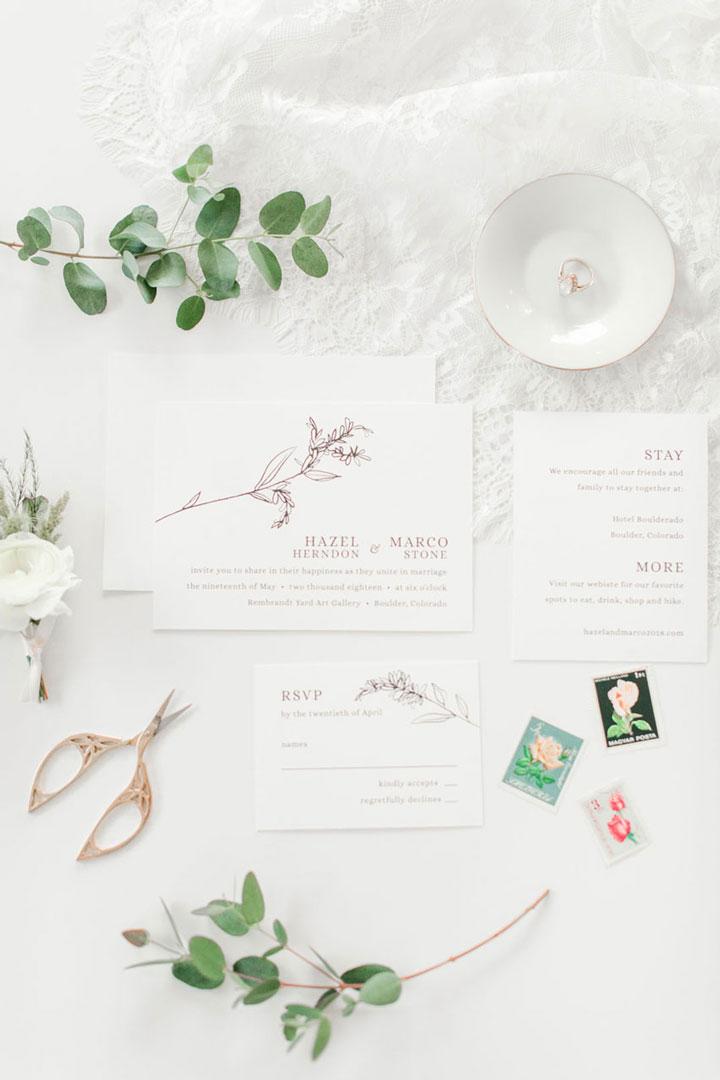 Intimate Gallery Black + White Wedding Invitation by LBC Design