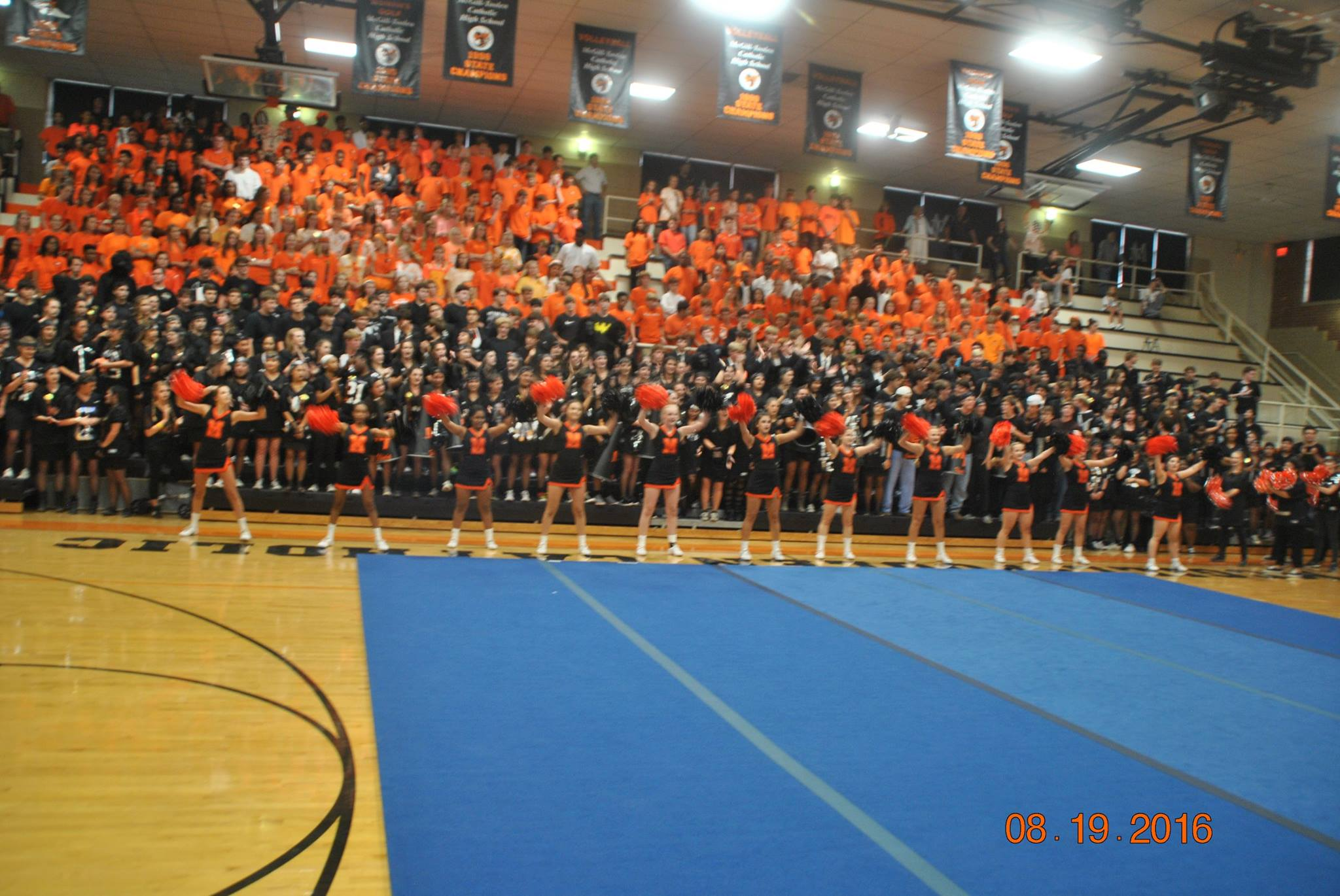 """Back in Black"" pep rally"