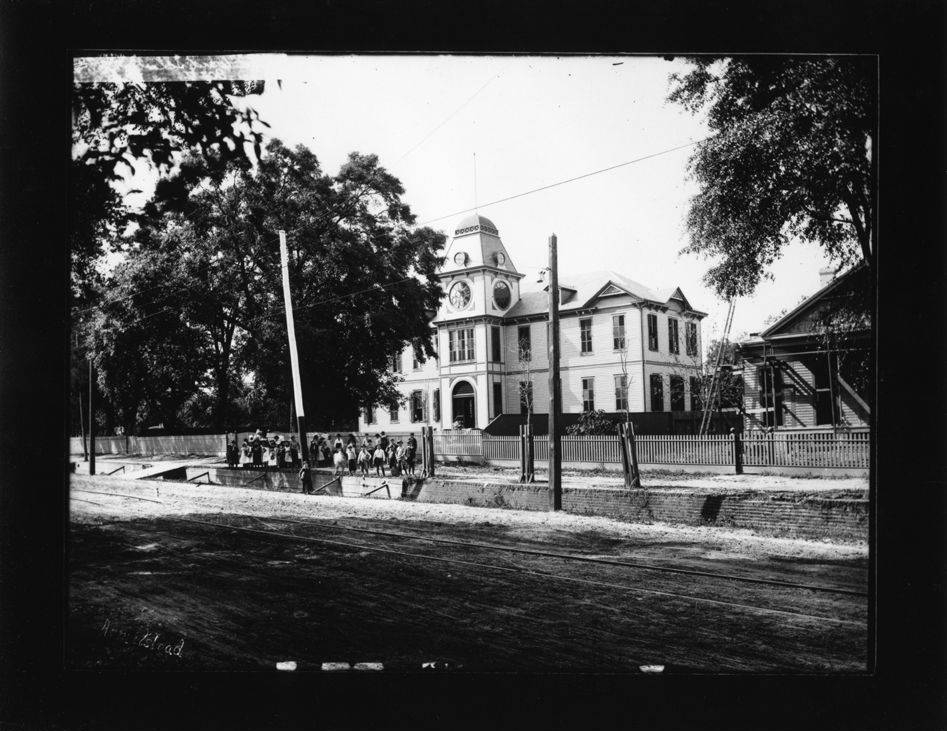 The West Ward School, later Admiral Semmes School once stood just west of Ann Street on Springhill Avenue