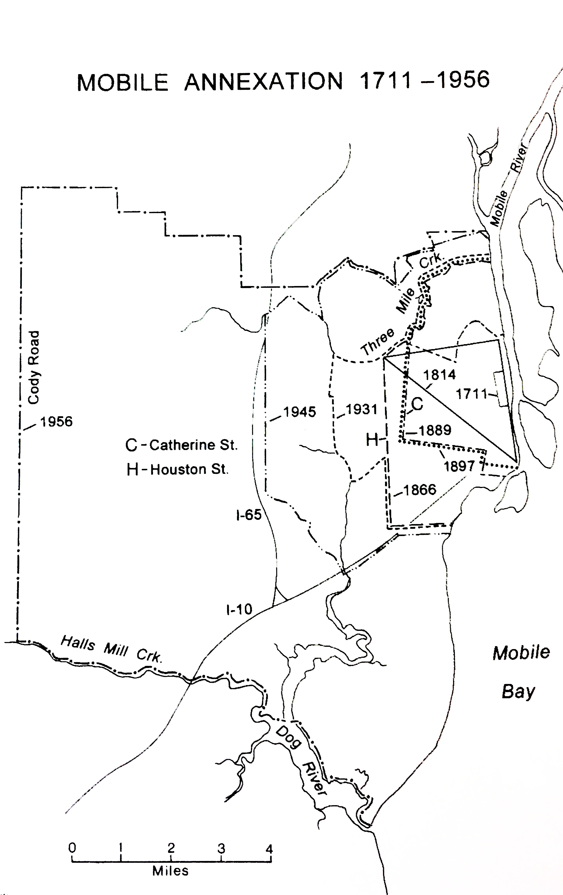 Mobile's annexations 1711-1956