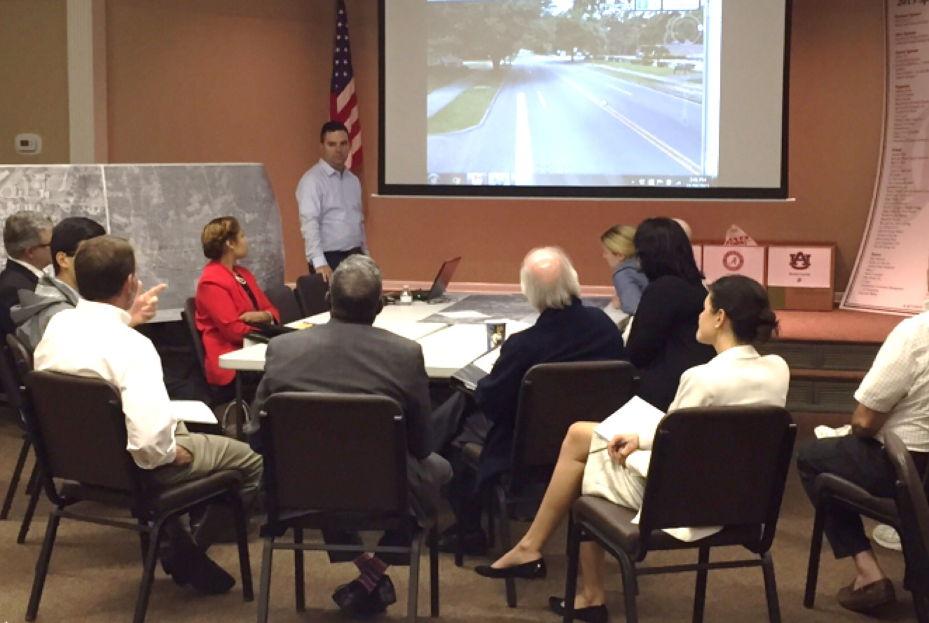 City officials giving input at the charrette
