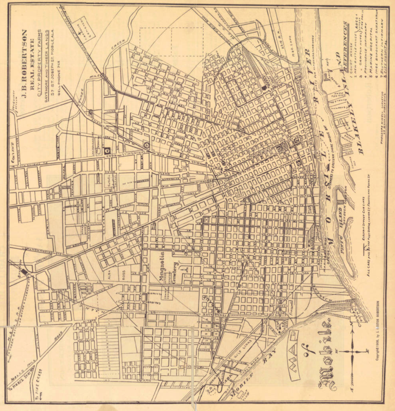 Mobile in 1908, The older sections of Midtown are fully developed