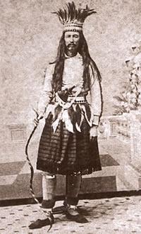 Joe Cain as the fictional Chickasaw Indian Chief Slacabamorinico