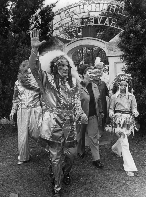Julien Rayford as Chief Slac in 1967   source: Mobile Bay Magazine