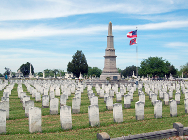 The Confederate Rest at Magnolia Cemetery in Mobile is the resting place for 1,100 Confederate soldiers   source: Justin Dubois