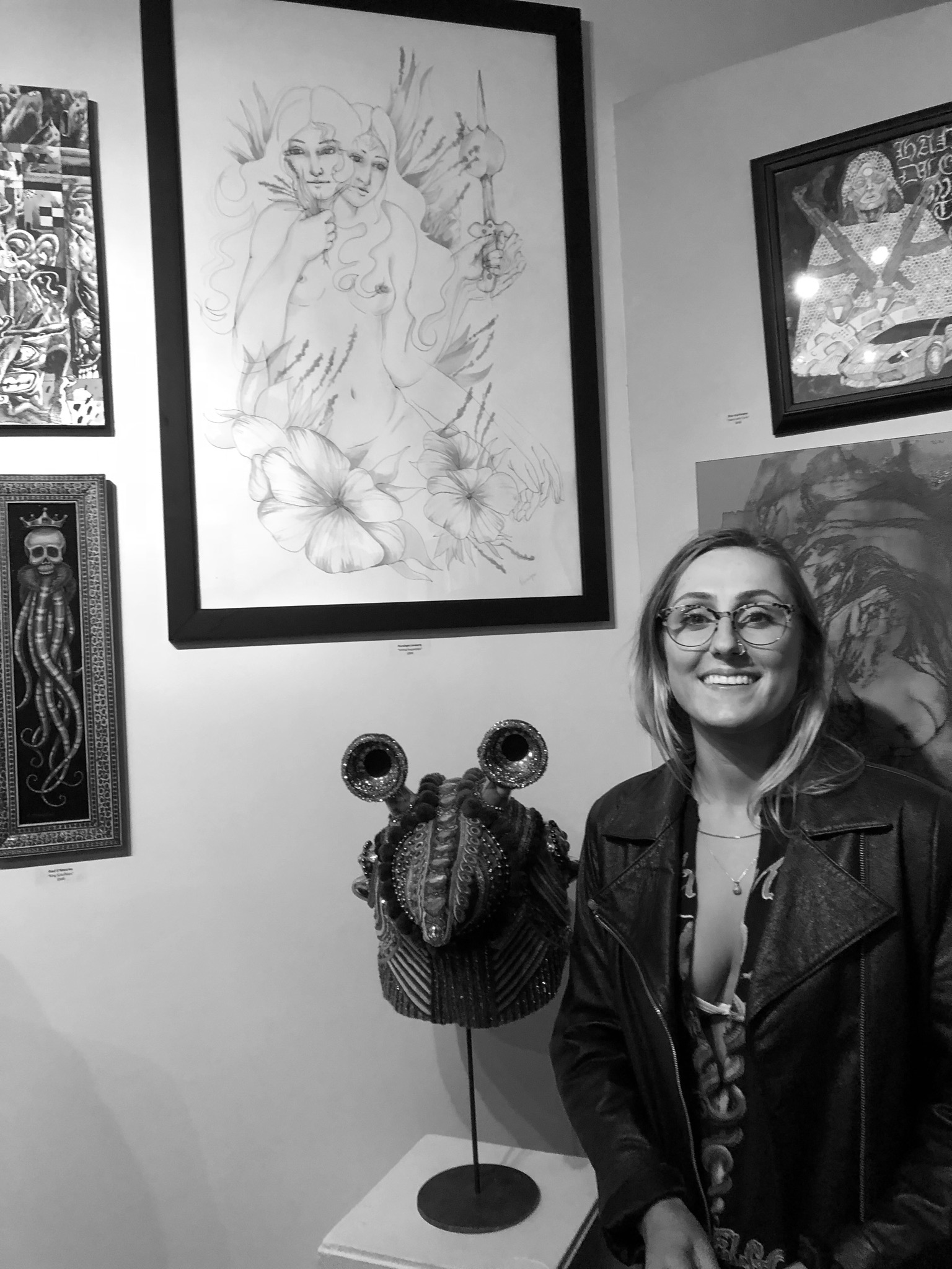 My drawing and I at 1810 Gallery, Sacramento, April 2018
