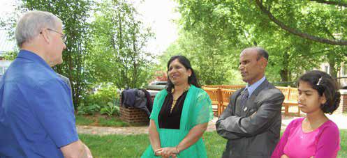 Jonathan Bonk met Smita, Lamuel, and Angel, from Odisha, India, in May at OMSC.