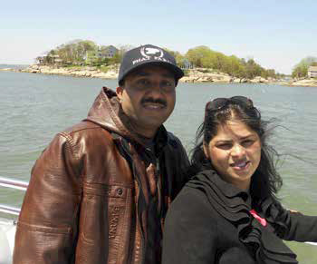 """On May 17 Insar and Uzma explored Connecticut's Thimble Islands archipelago on a tour boat, which they described as a trip """"to paradise."""""""