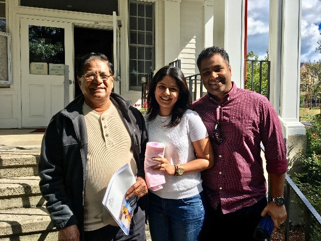 Rev. Dr. Joseph Suppogu  , Andhra Christian Theological College in India, was a resident of OMSC in 1992. In September Dr. Suppogu (left in photo) stopped by the campus for a brief visit with his daughter and son-in-law.