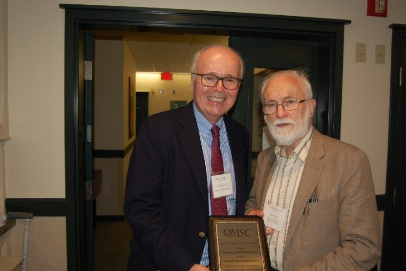 OMSC executive director, Dr. Thomas Hastings, and Dr. Andrew Walls