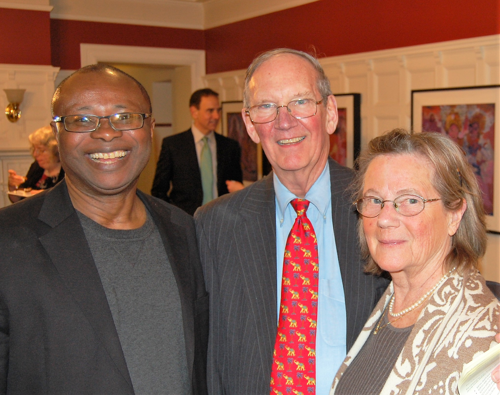 Edward Seibert (center) at the OMSC Art Gala in April of 2018