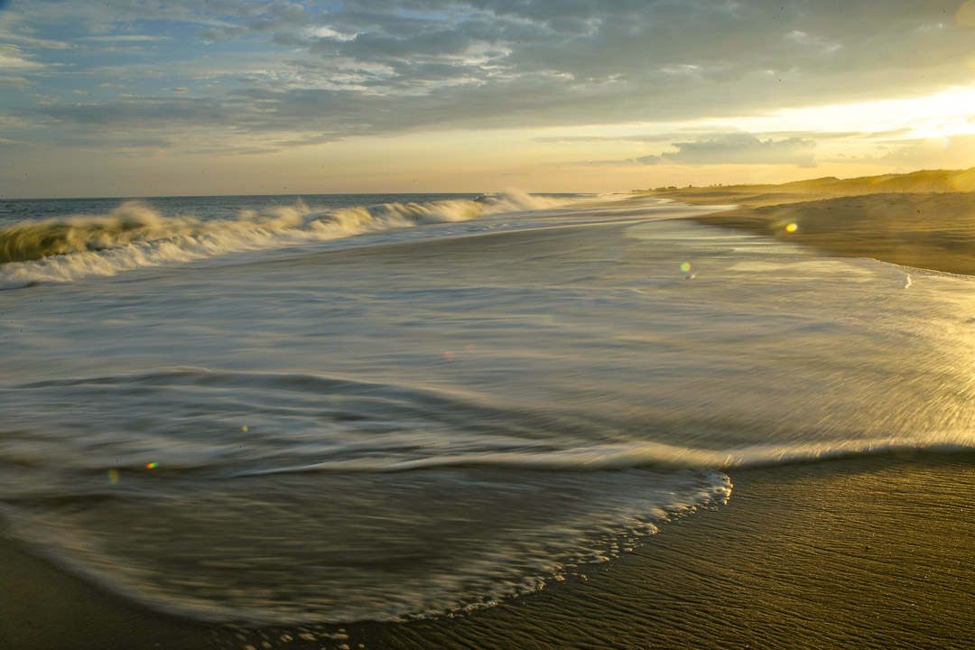 Sunset at Flying Point Beach in the Hamptons
