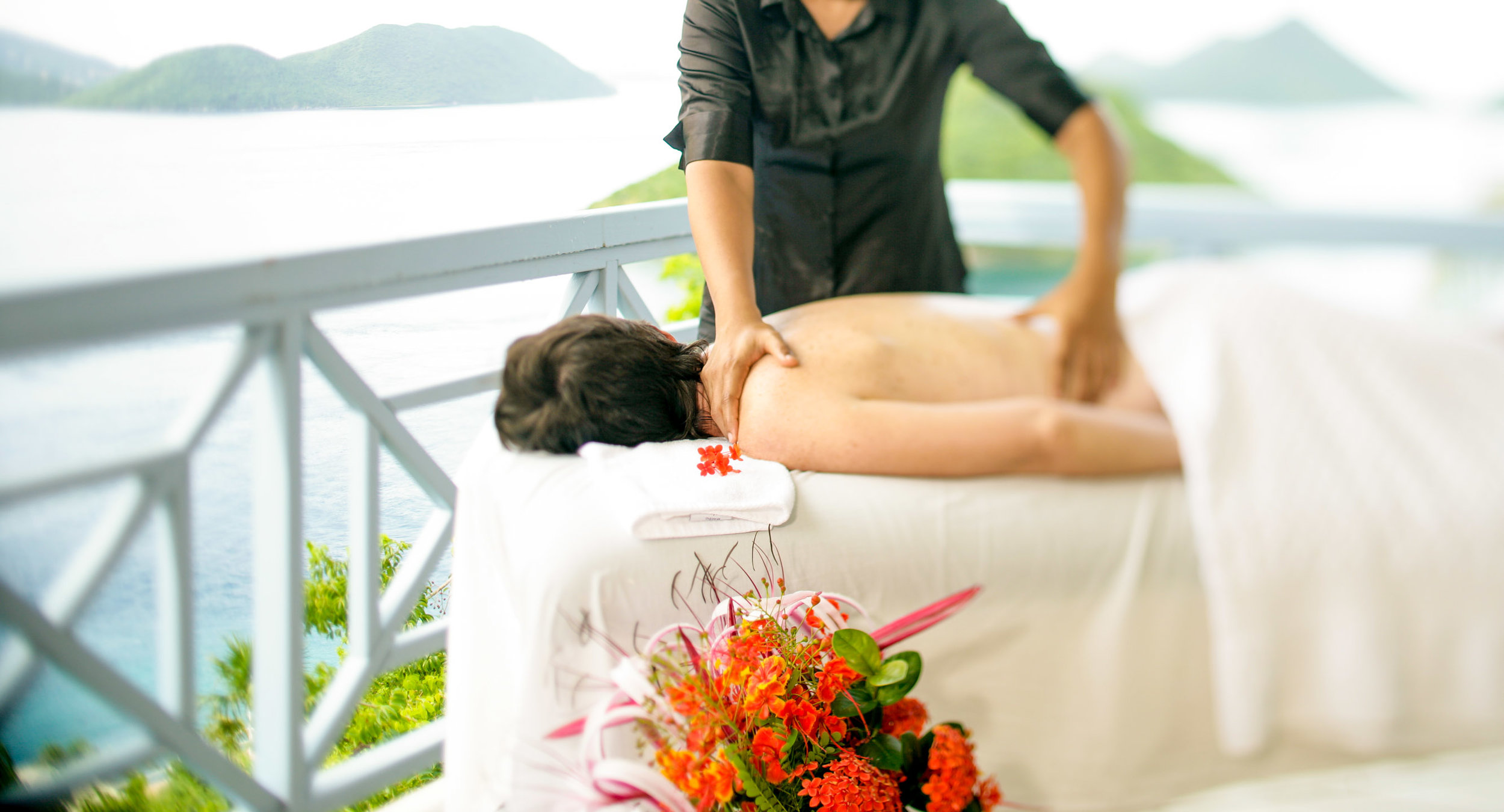 Relaxing Outdoor Massage, Tortola