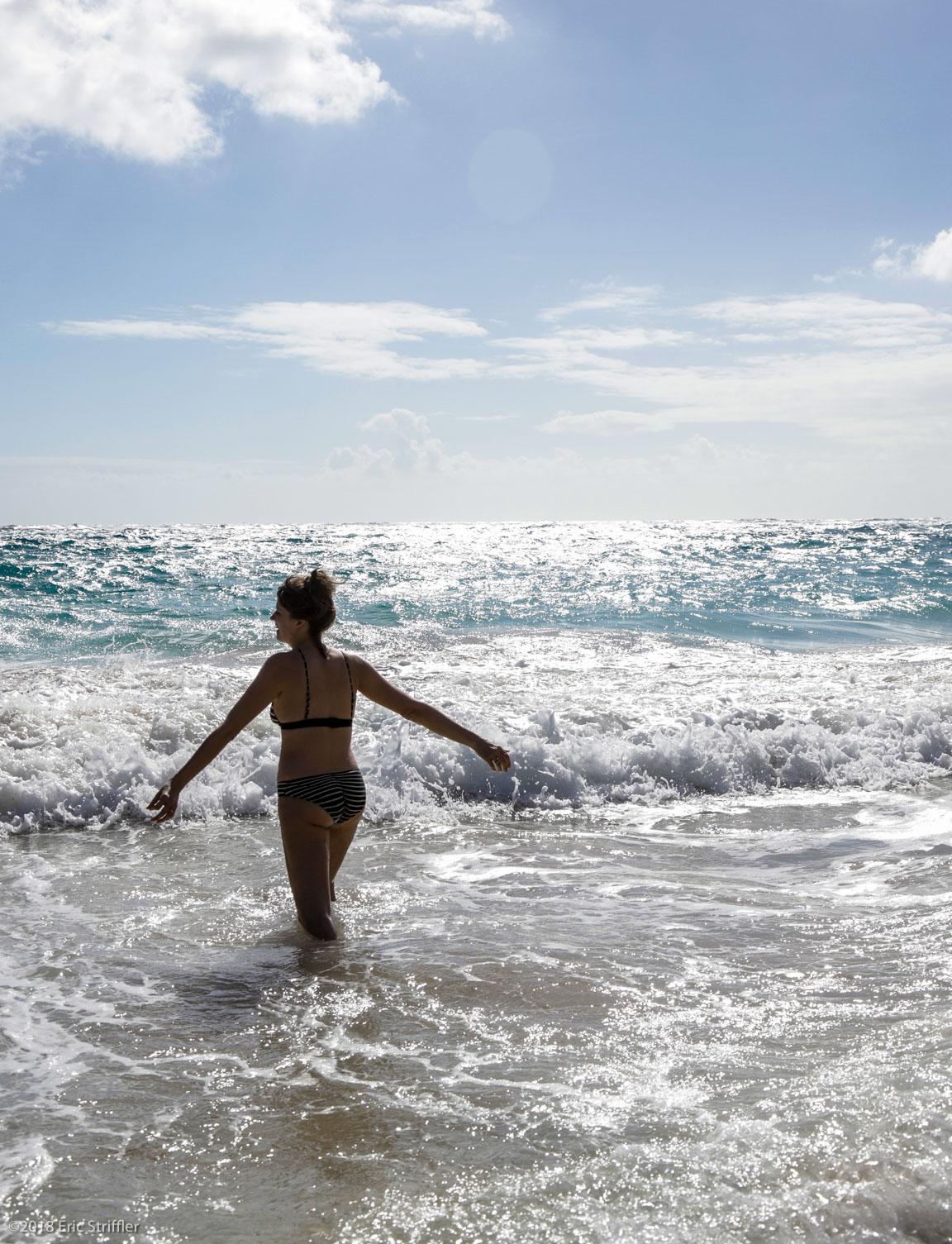 Morning swim at Macaroni Beach