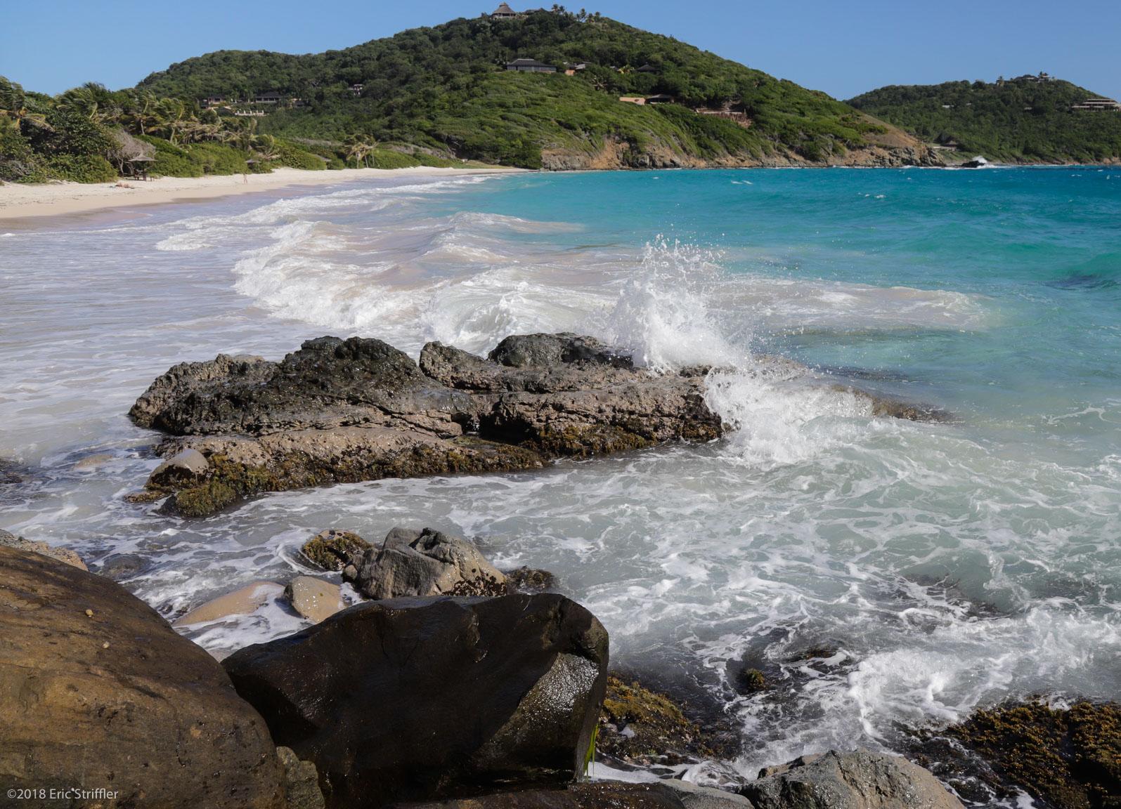 Beautiful & famous Macaroni Beach, Mustique