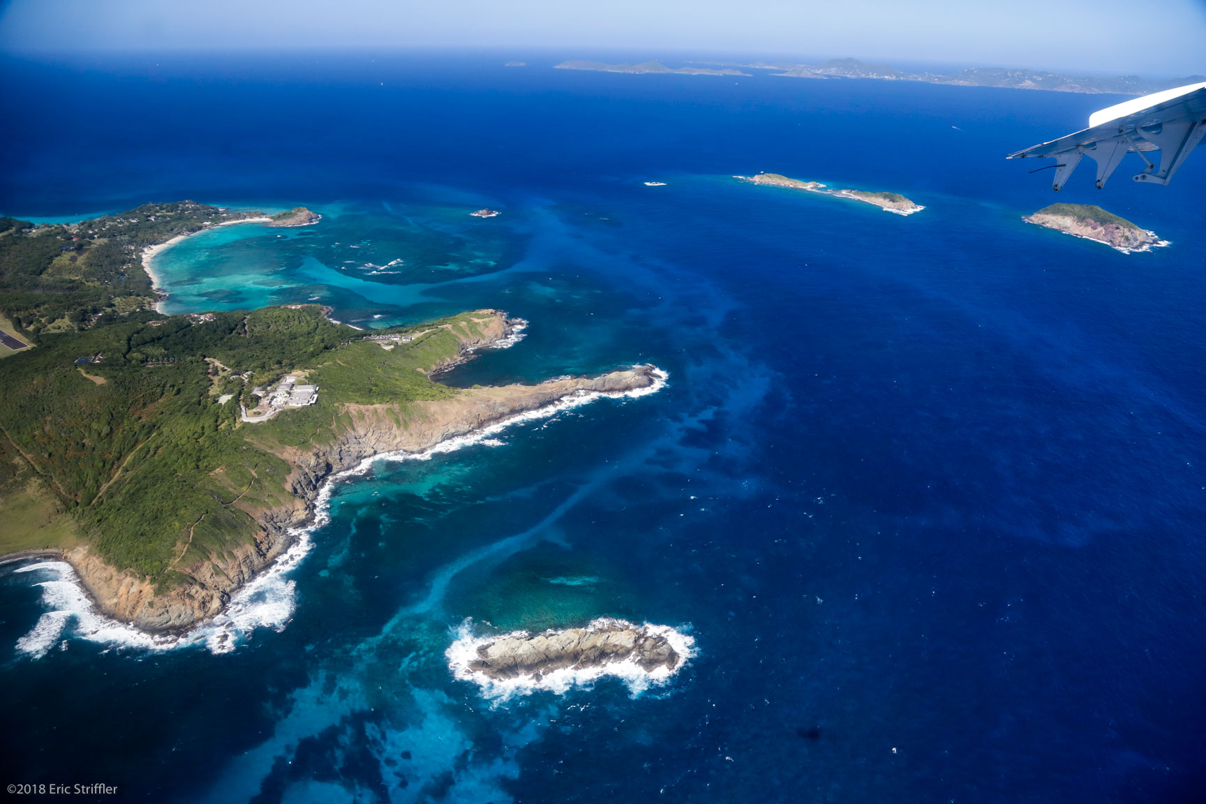Mustique aerial view