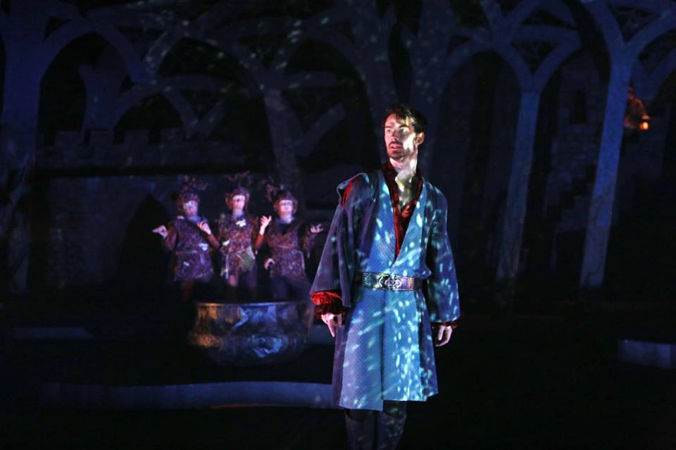 Production photo of Skidmore's Fall 2015 main stage production of Macbeth. Photo taken by Sue Kessler, courtesy of the Skidmore theater department.