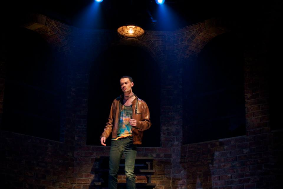 Woodrow as D in Skidmore College's Fall 2013 production of Polaroid Stories by Naomi Izuka. Photo courtesy of the Skidmore theater department.