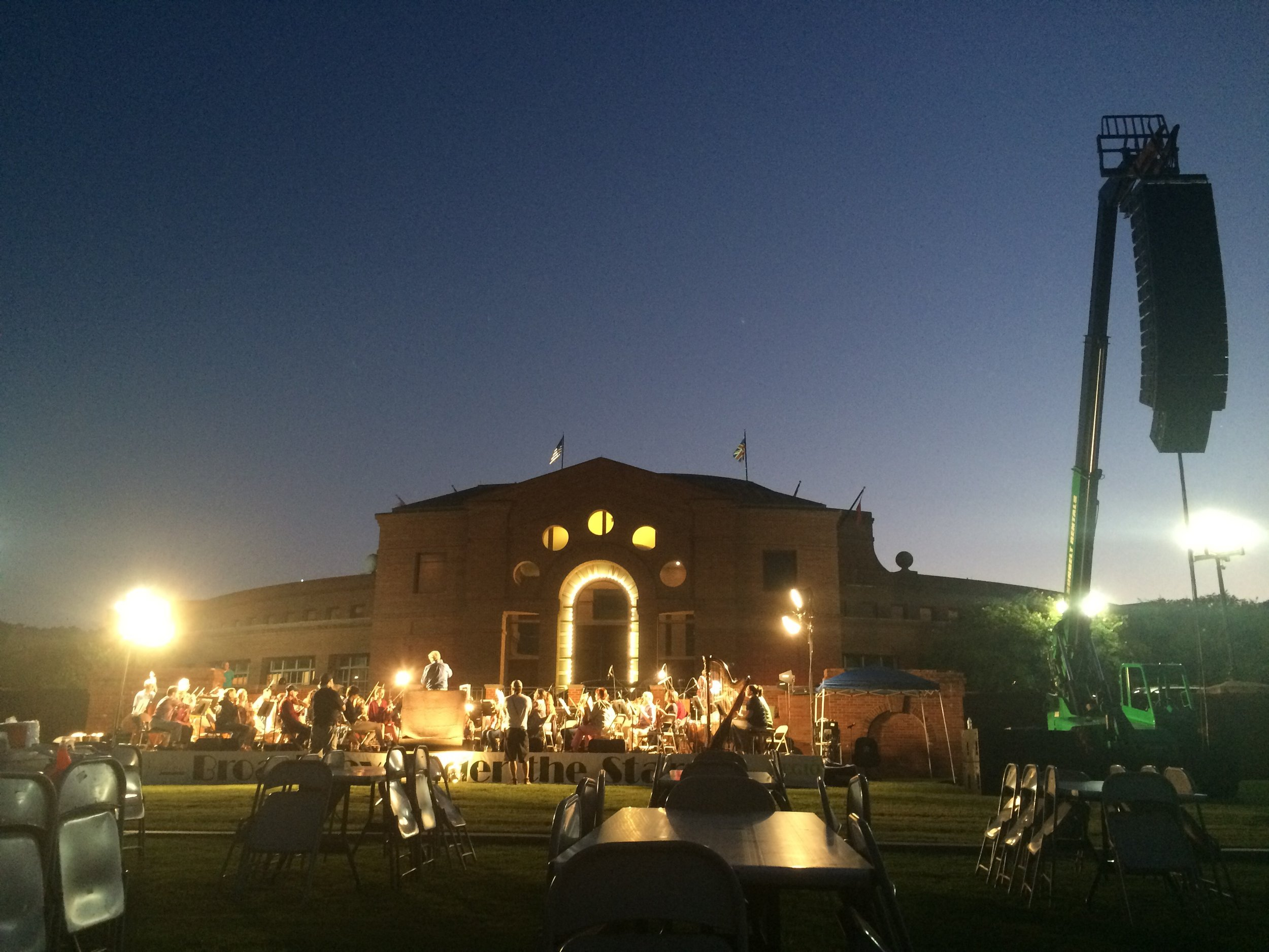 Broadway Under the Stars concert outside ASF!
