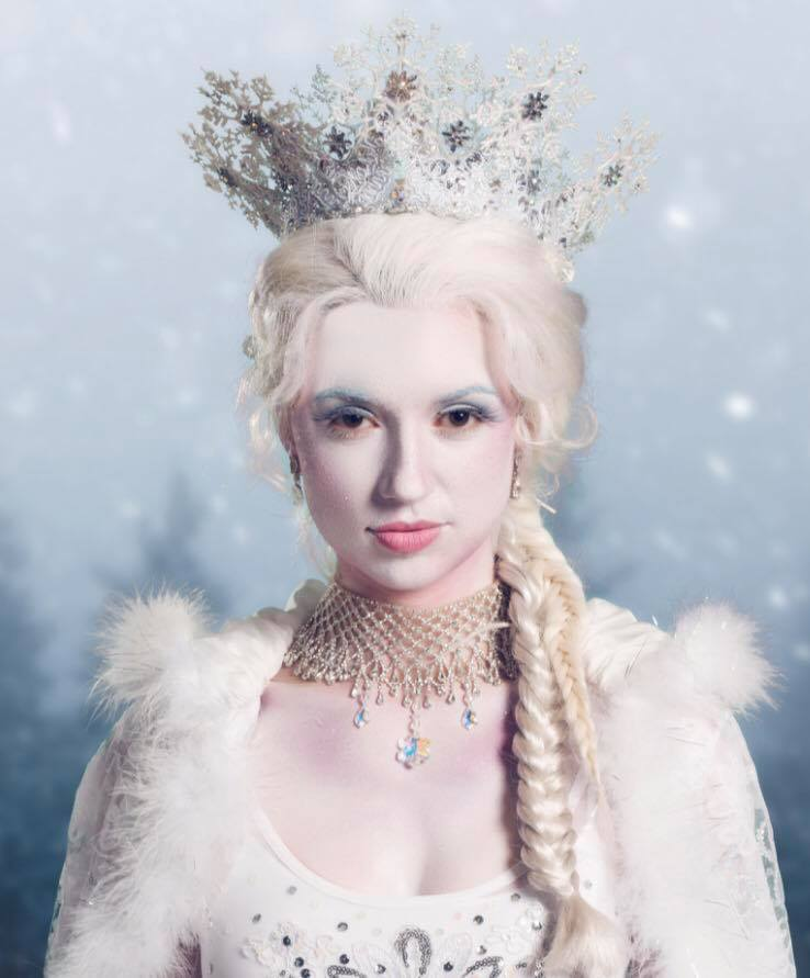 Promotional photo of Katie Fanning as the Snow Queen