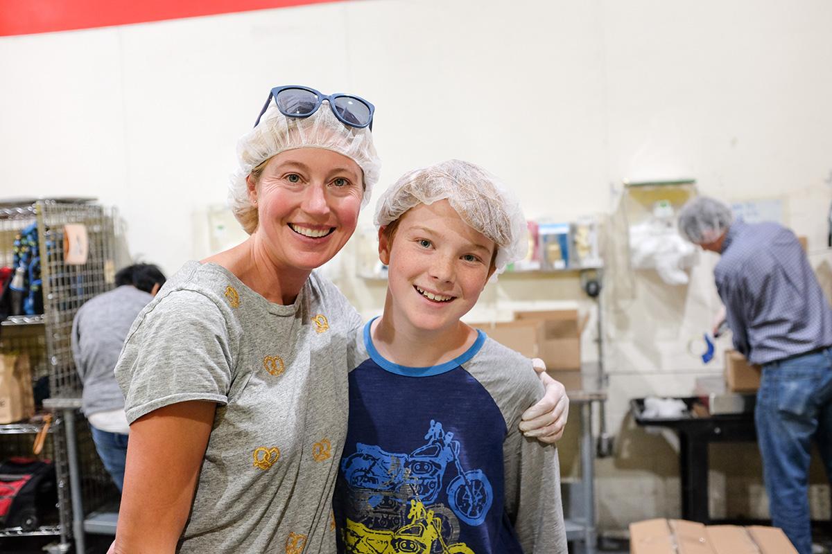 Volunteering at the Marin Food Bank