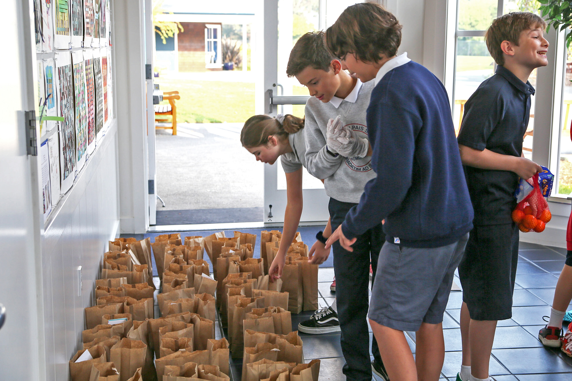 Packing lunches for St. Vincent de Paul's Society in Marin