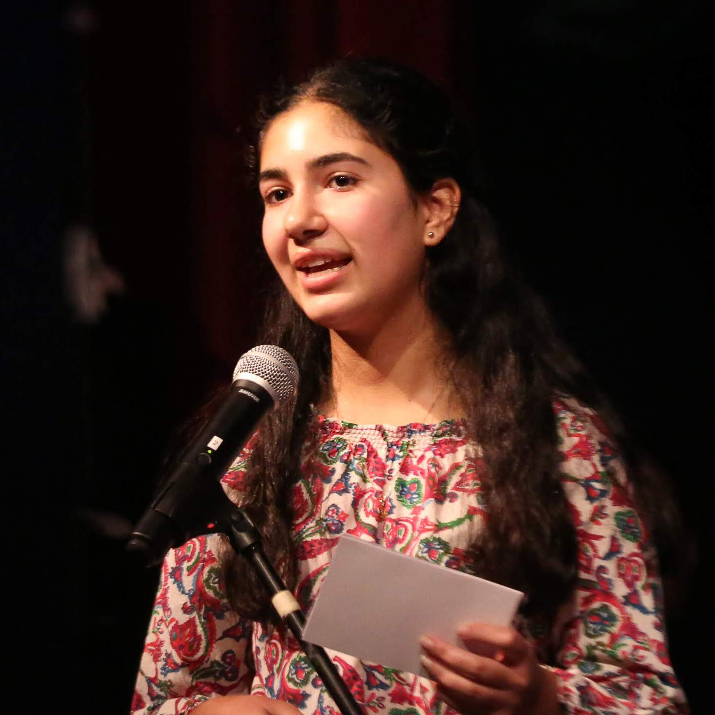 "Lily Ehsan, Current 8th Grader - ""When I arrived at MTS in the fifth grade, I was welcomed with open arms. I am currently thriving at MTS as I am surrounded by curious peers and supportive teachers who care about my growth as a student and individual. I am constantly challenged to expand my knowledge base, think critically, and be an engaged citizen in my community. I am proud to be part of an encouraging environment like Mount Tamalpais School."""