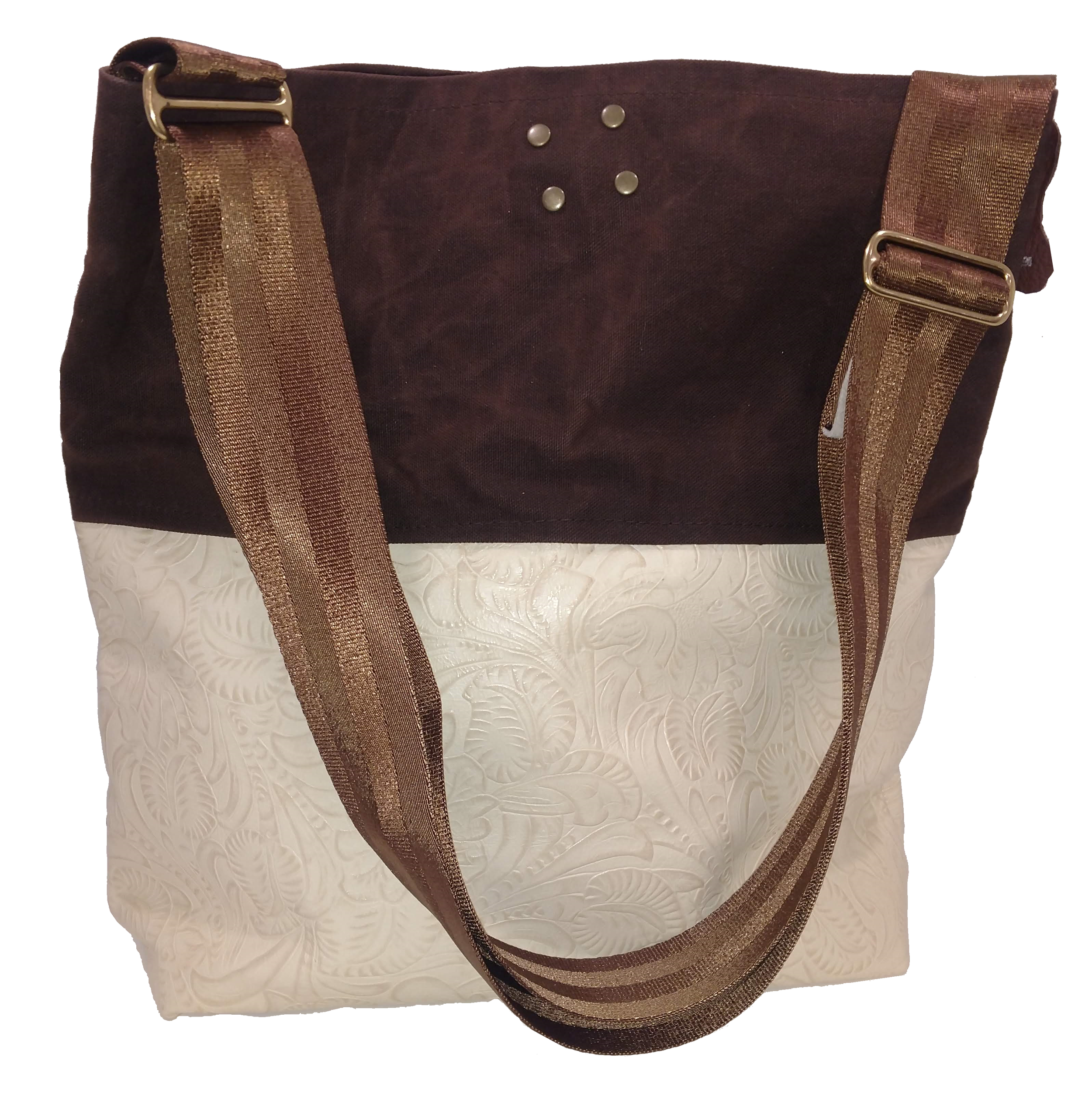 Grumpy Bags Embossed Cream Leather Waxed Canvas Large 2018.png