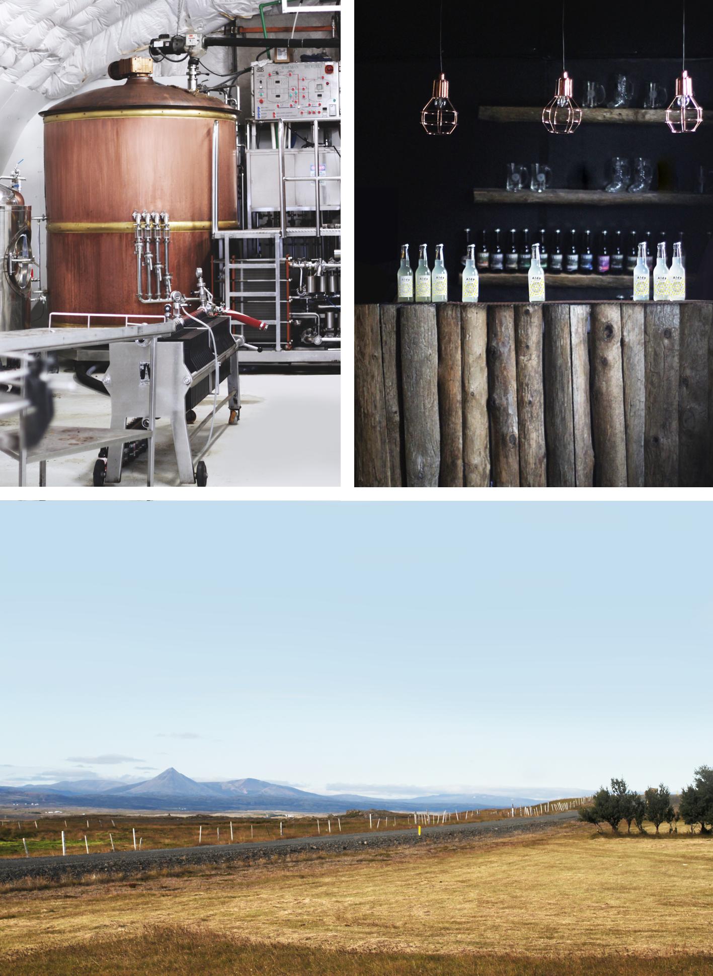Alda is brewed in Steðji Brewery in Borgarfjörður, Iceland.