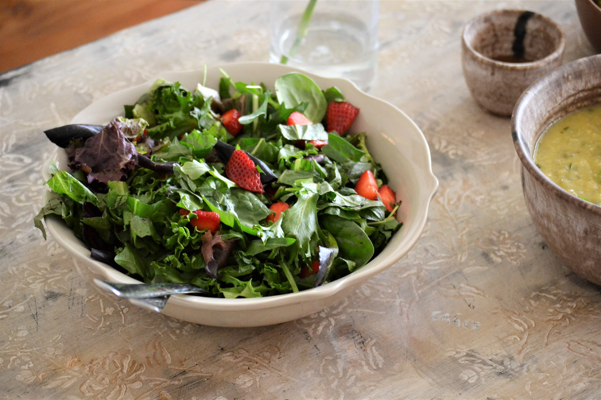 Sorell & Strawberry Salad -