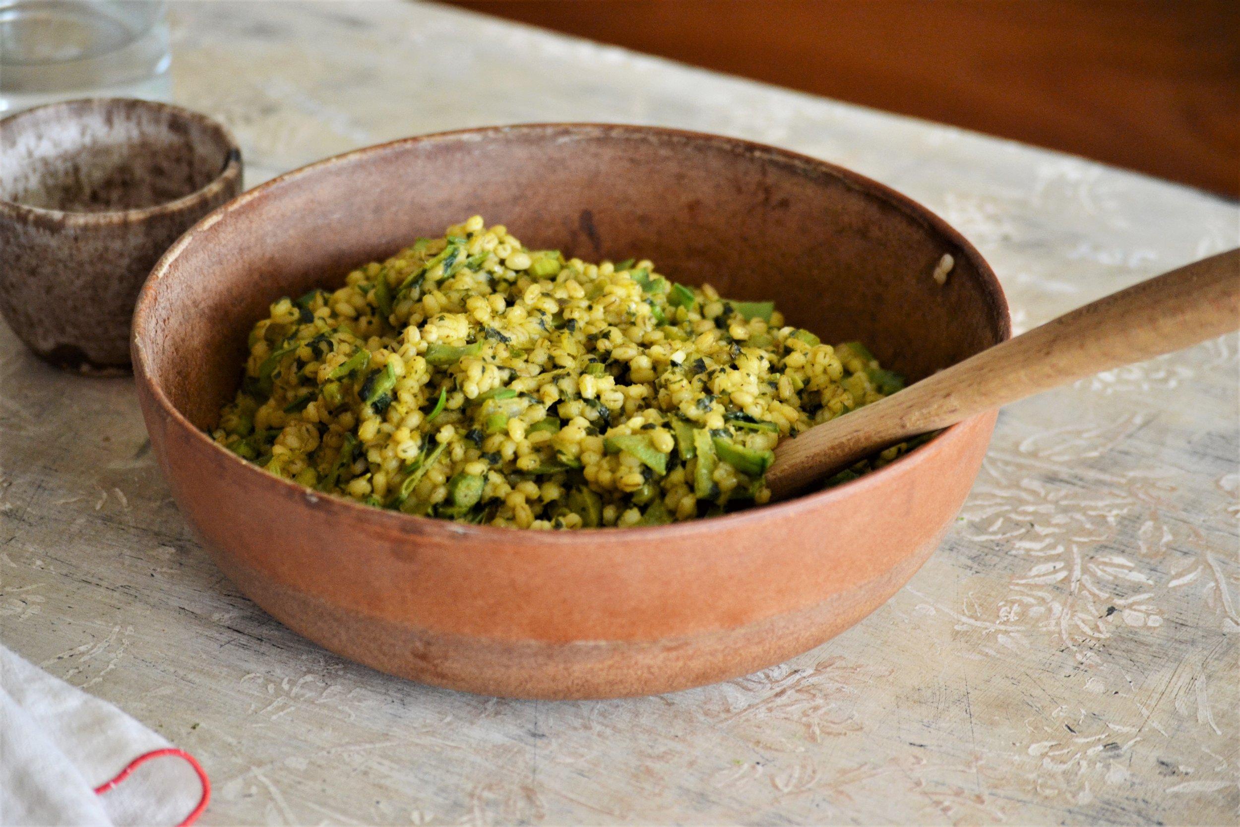 Barley with Spring Greens -