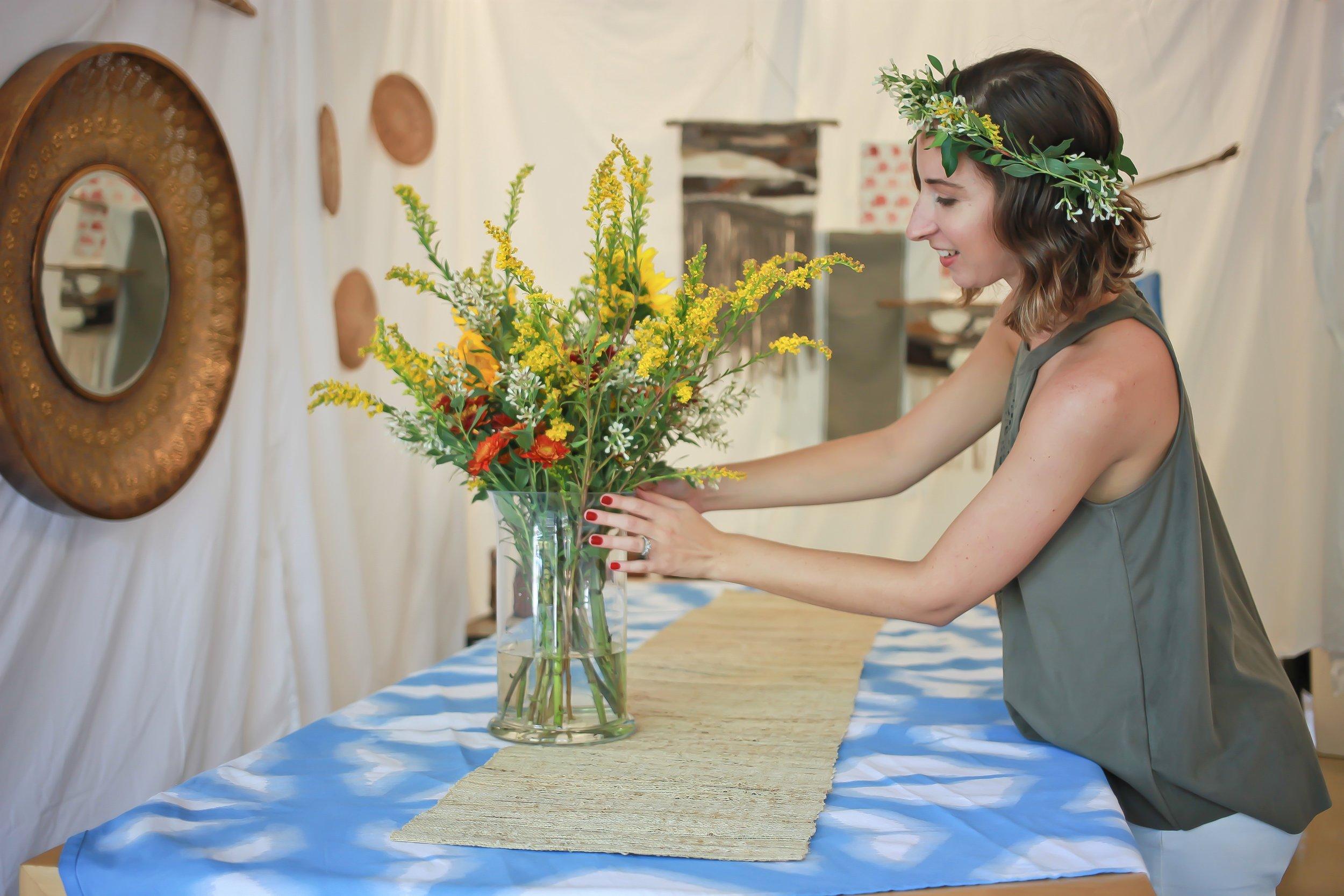 Creating an Autumn Floral Arrangement -
