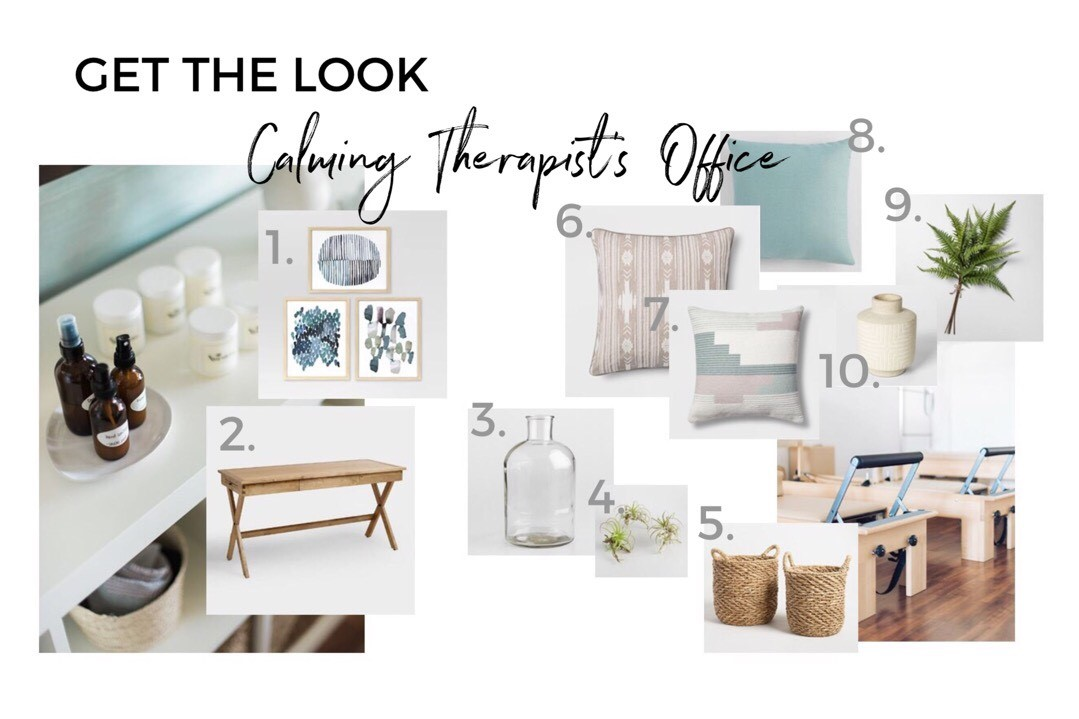 Get the look of this calming therapist's office!