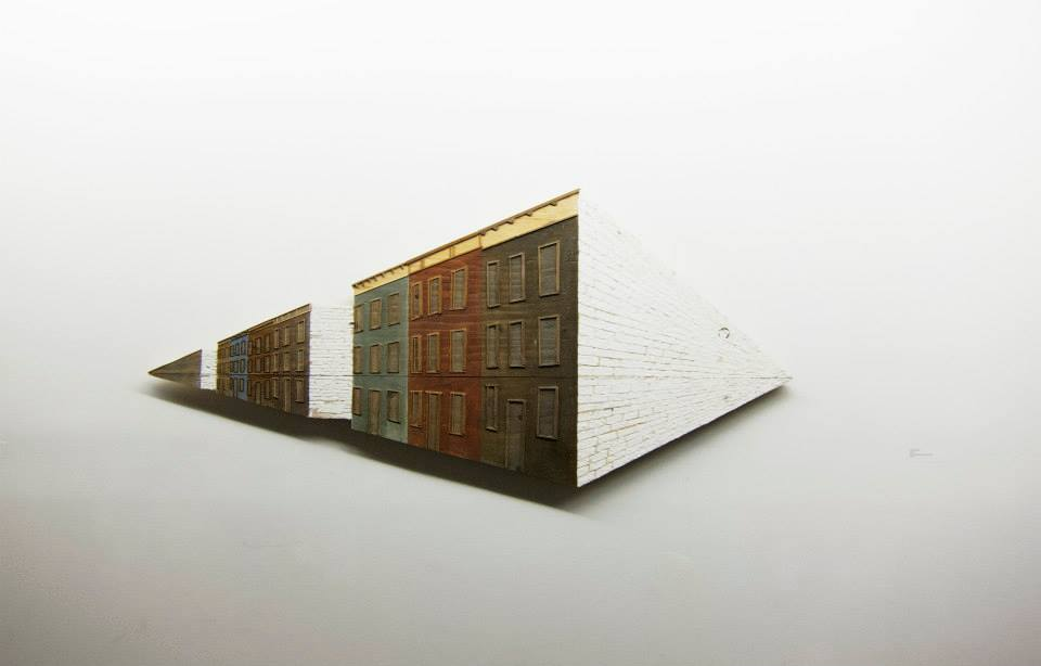 Heejung Cho  , 2013   Street   Wood, plaster cloth and stain
