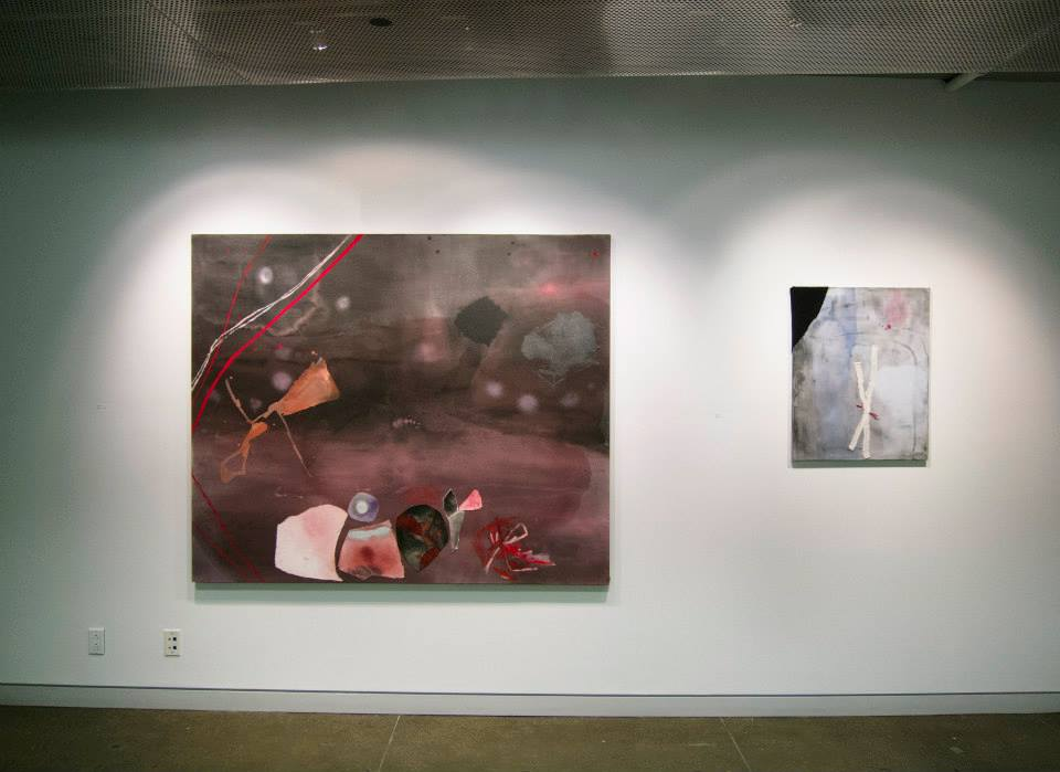 Sally Egbert, 2011   Rain   mixed media on canvas   60 x 72 inches    Sally Egbert, 2013 Tethered mixed media on canvas 30 x 24 inches