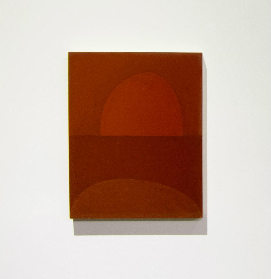 Suzan Frecon, 2009-2013   trial a, embodiment of red series   Oil on wood panel   8 x 10 x 3/4 inches