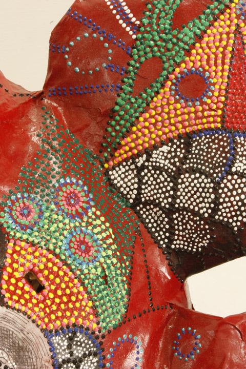 Red P.A.M., detail,2010 papier mache, spray paint, paper, paint varied  Photo Credit: Sita Kuratomi Bhaumik