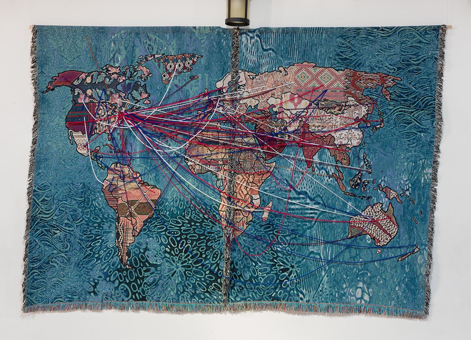 """""""Our Stories of Migration"""" digital tapestry  Photo credit: Etienne Frossard"""