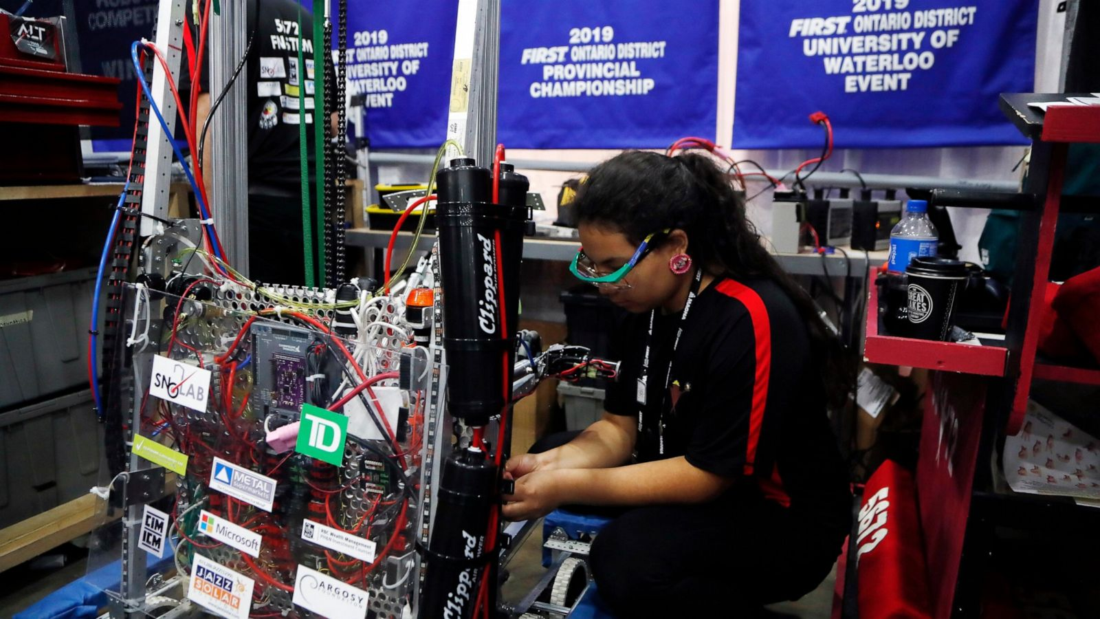- Thousands of students from dozens of countries are in Detroit this week competing in the biggest youth robotics event in the world. Here in the United States, about 12% of schools have a FIRST team, serving 18% of the students. So, there's still a lot of kids out there that don't have easy access to our programs.