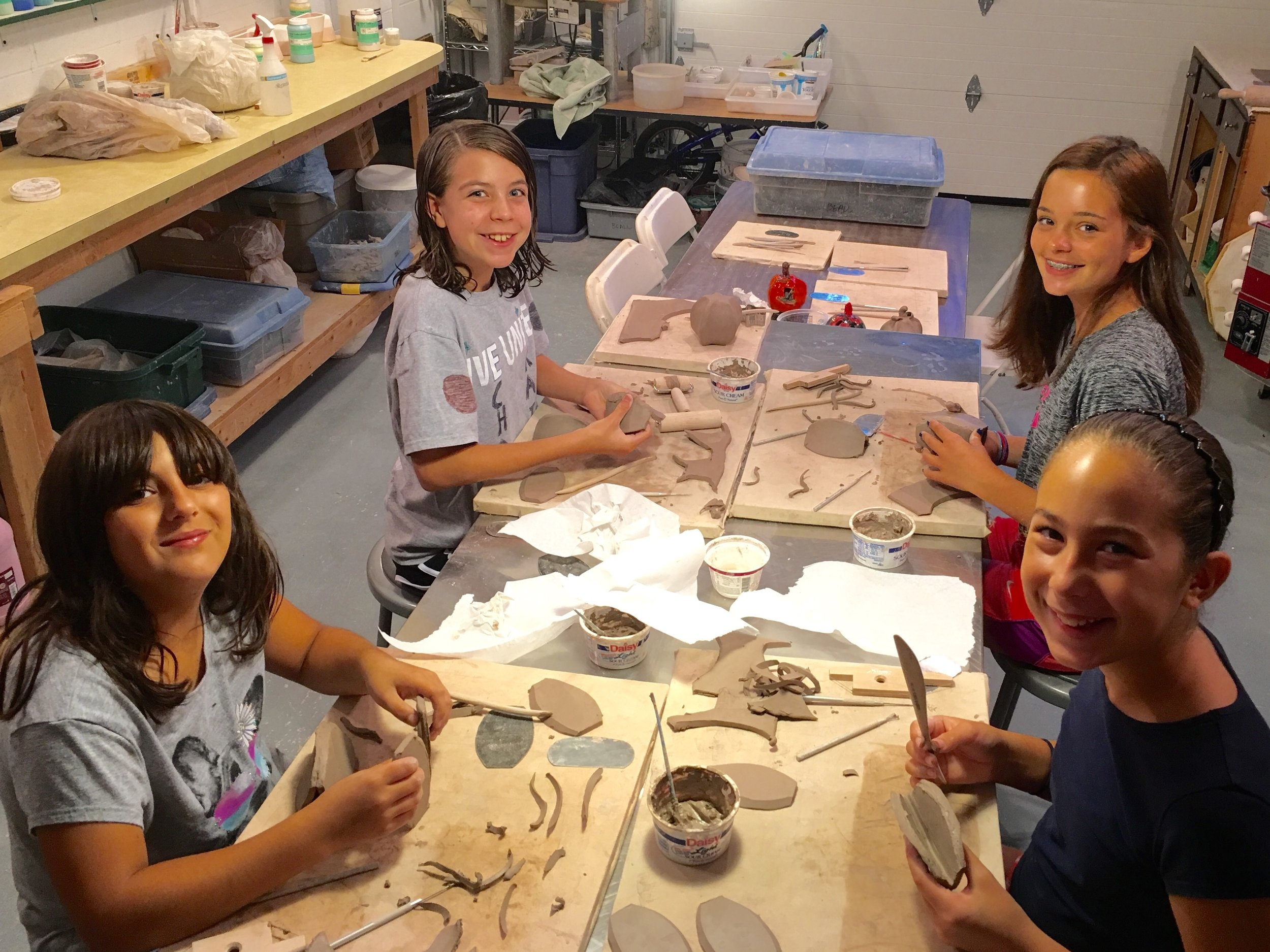 Making clay pumpkins