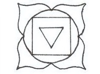RED - Root, first chakra:  Symbolizes safety, survival, grounding, nourishment from the Earth energy.