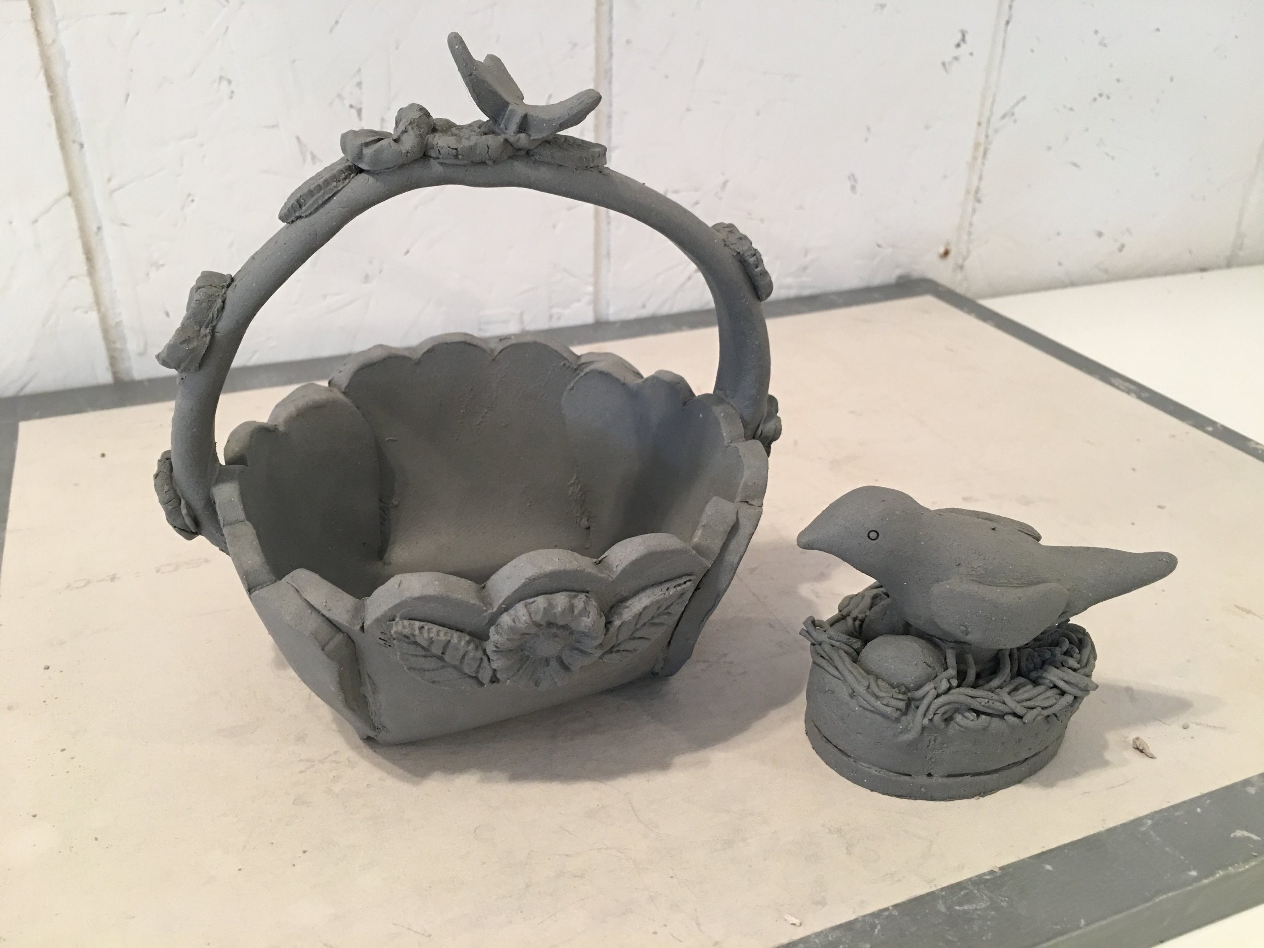 Unfired and Unglazed Project Sample