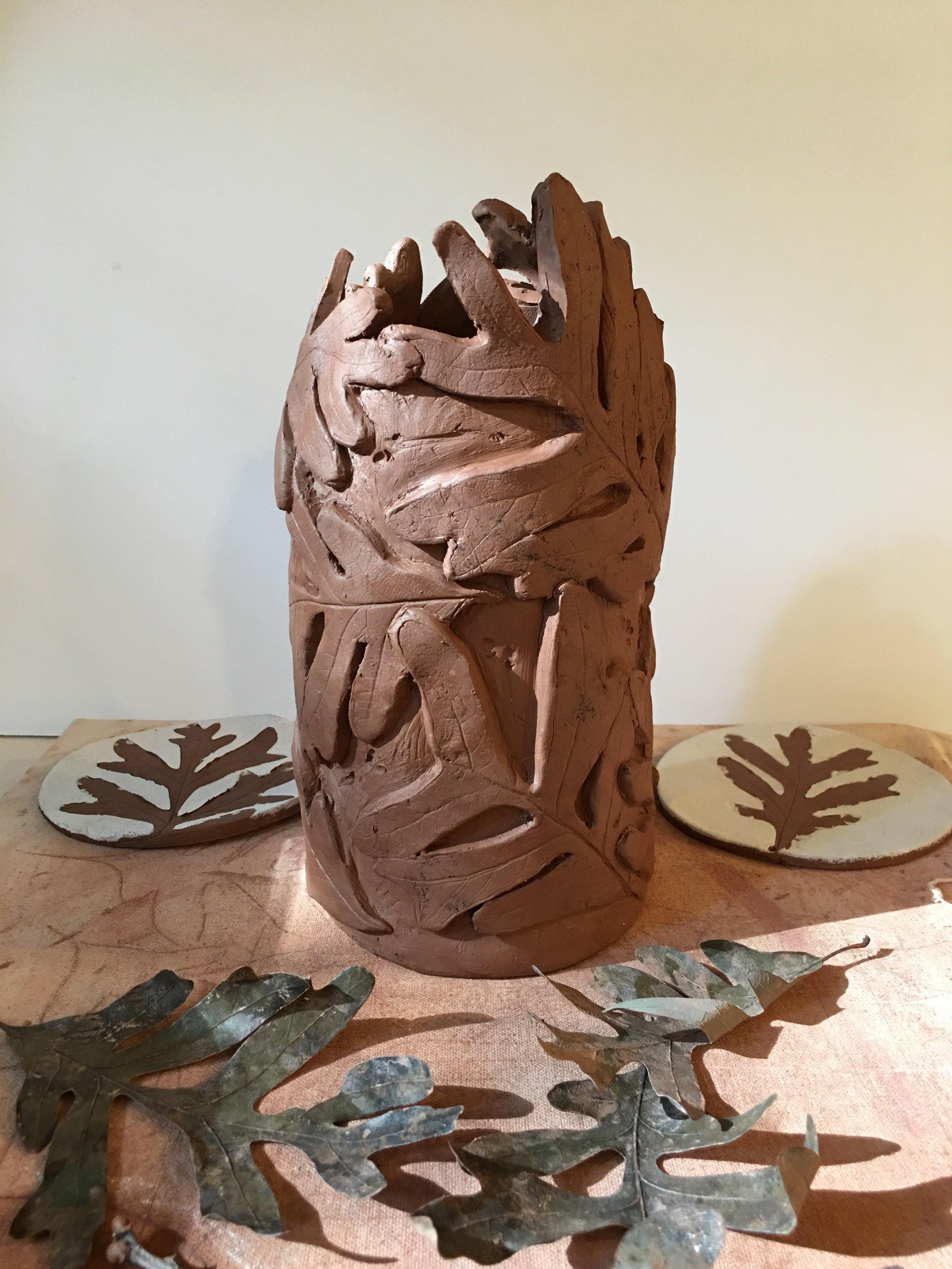 Leaf Vase in Progress