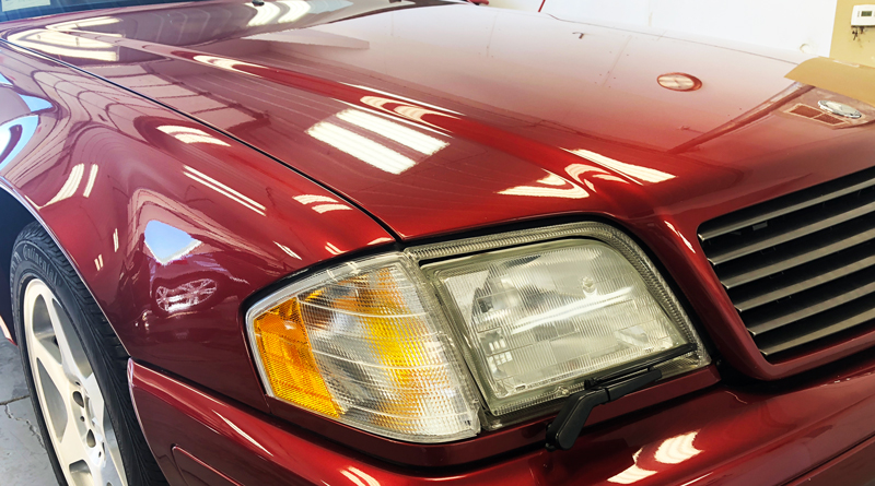 """The special edition """"Crimson Metallic"""" paint was well-taken care of, but now all of that effort is preserved – under a strong layer of nano-ceramic protection."""
