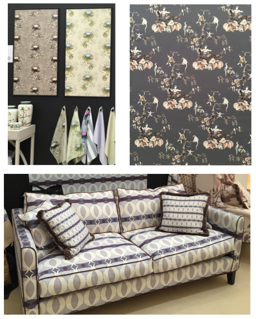 Ailanto  's new collection of fabrics and wallpapers are fresh and unusual.